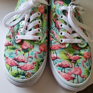 Vans Flamingo Low Top Lace-up Sneakers